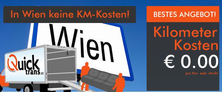 Umzug Wien: In Wien keine Kilometerkosten!