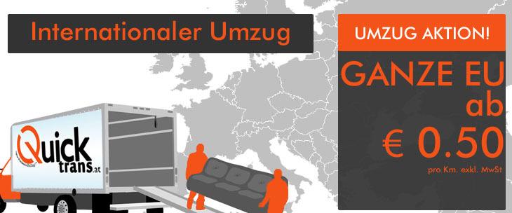 Internationale Umzüge von bzw. nach Wien
